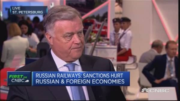 EU and US sanctions are 'illegal': Yakunin