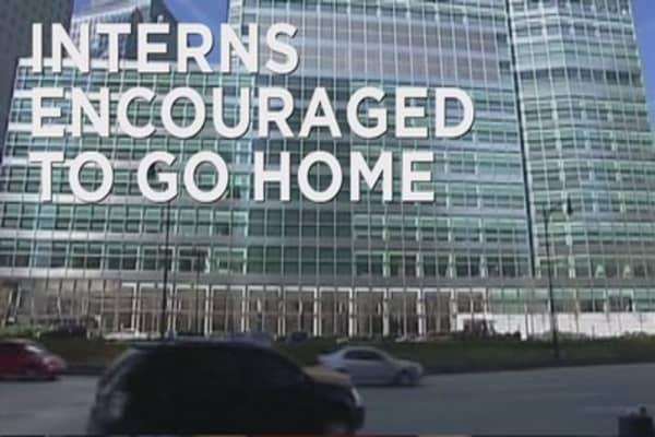 Goldman Sachs encourages interns to go home