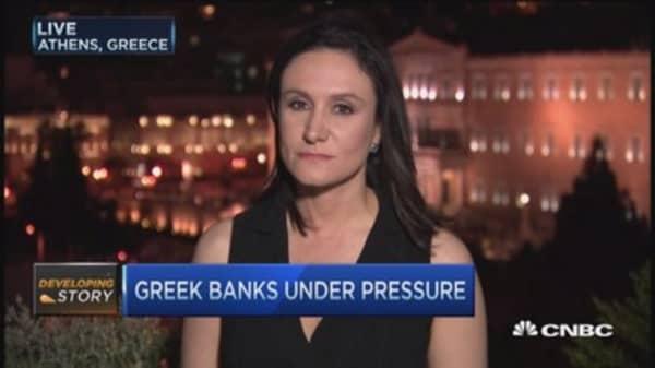 Greek banks under major pressure