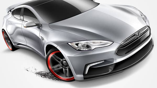The Hot Wheels Tesla Model S