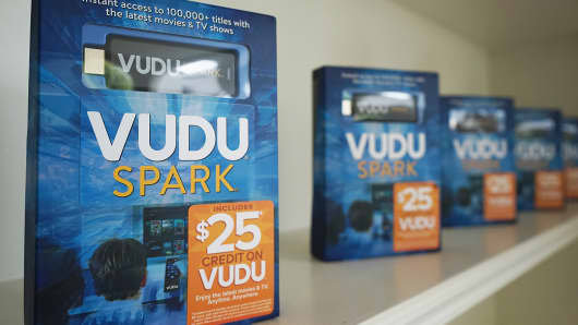 The VUDU Spark, a streaming-enabled device Toggle partnered with Wal-mart.