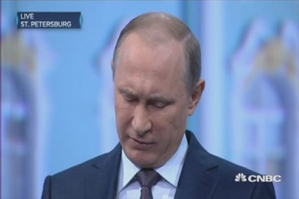 Russia hasn't suffered a deep crisis: Putin