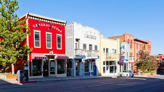 Utah is currently seeing tremendous job growth in middle-skilled jobs, at almost 11 times the national average. Above, storefronts in Park City.