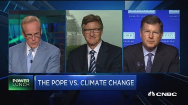 The Pope climate debate