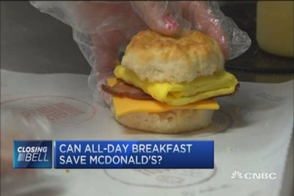 All-day McDonald's breakfast to the rescue?