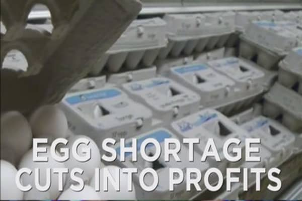 Bird flu pushing higher egg prices