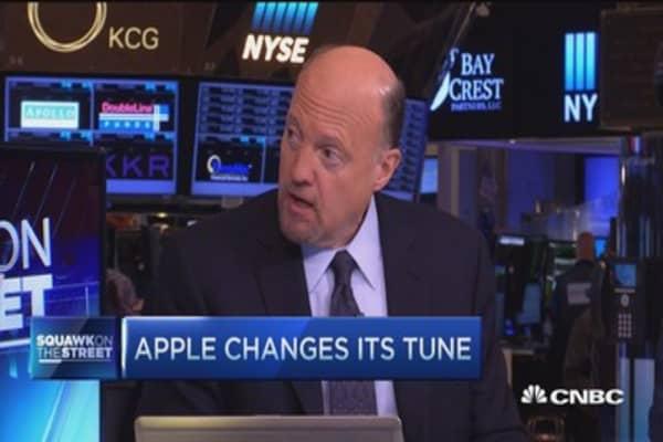 Cramer: Apple tune change unusual