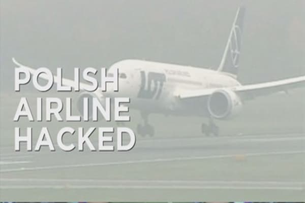 Airline passengers stranded after hacking incident
