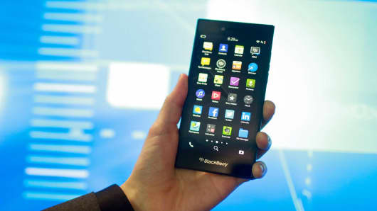 A BlackBerry Leap smart phone