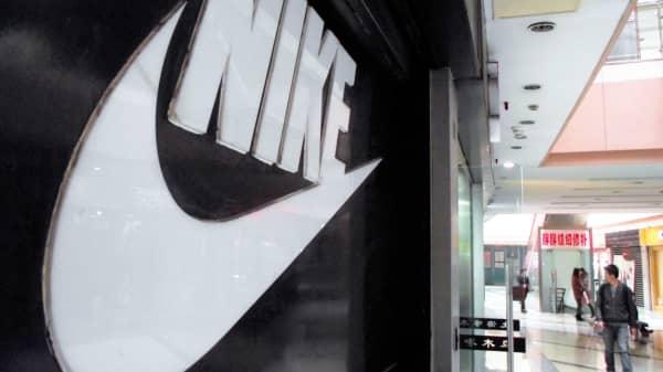 A Nike logo in Beijing, China