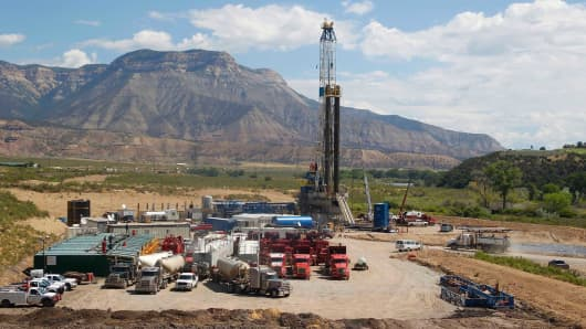 A Williams Companies natural gas drilling rig in Rifle, Colorado.
