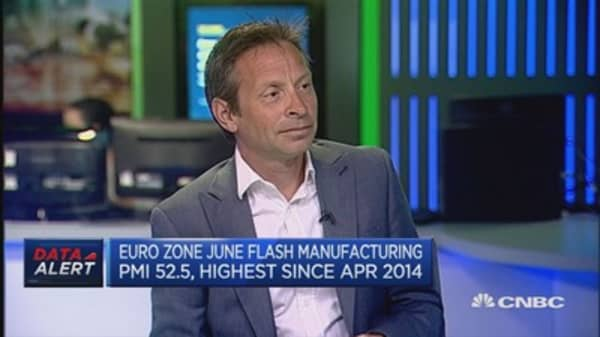 Euro zone June PMI: Reaction