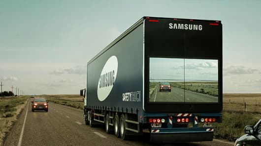 Samsung Safety Truck makes trucks transparent in the name of road safety.