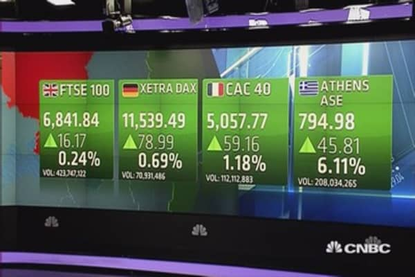 Europe closes higher as hopes for Greek deal rise