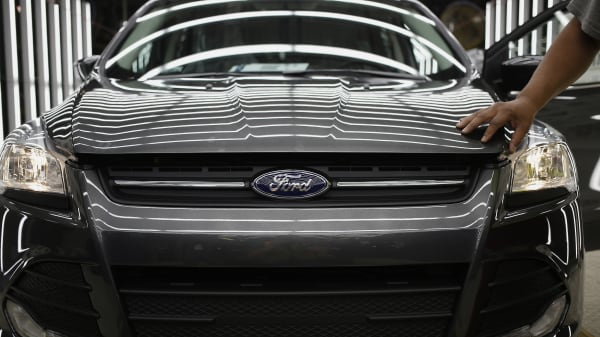 A Ford Escape SUV rolls off the production line in Louisville, Kentucky.