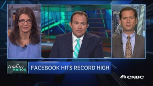 Trading Nation: Facebook hits record highs