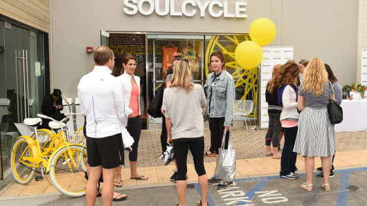 An event at SoulCycle in Malibu, California