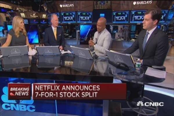 Netflix announces 7 for 1 stock split