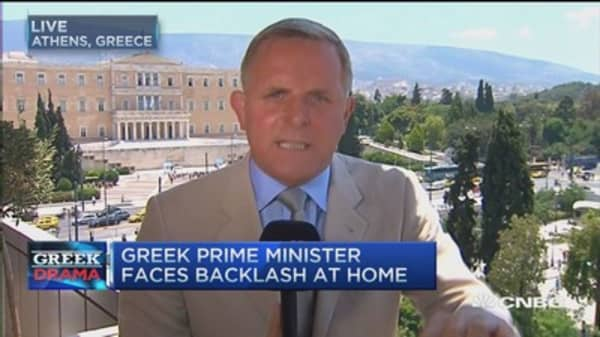 Greek PM faces backlash at home