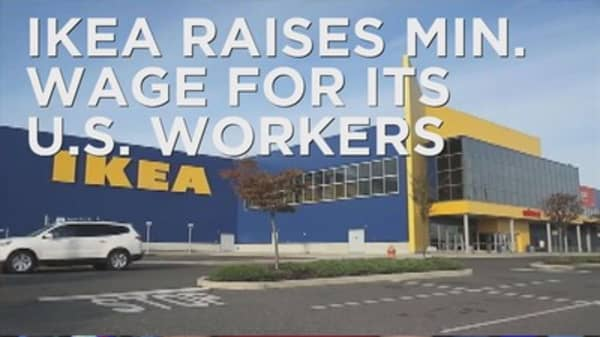 Ikea raises their minimum wage