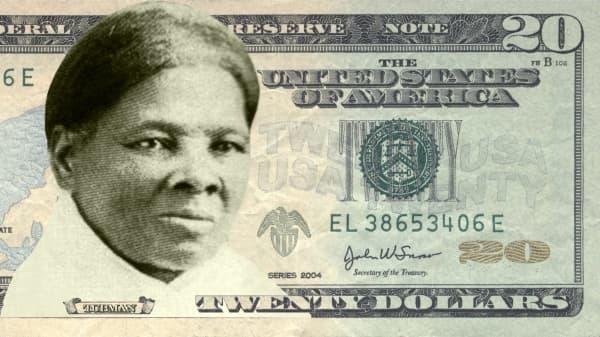 Harriet Tubman on the $20 bill.