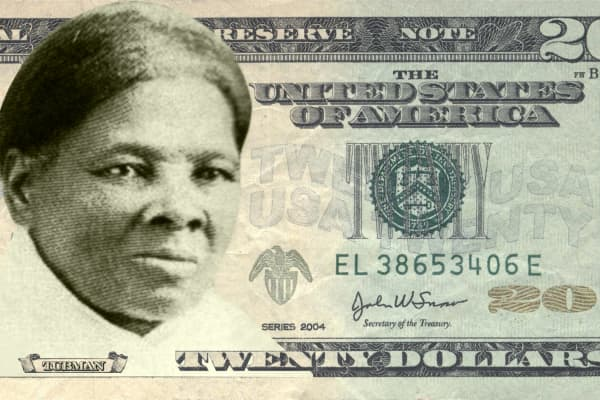 Harriet Tubman on the $20 bill.