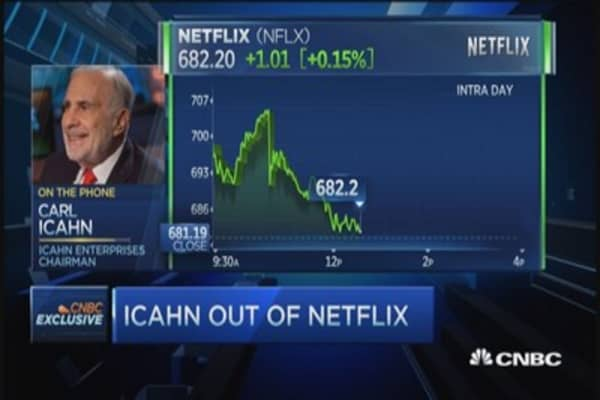 Carl Icahn gets out of Netflix, says Netflix still great