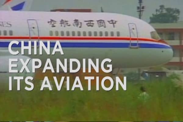 China looks to aviation to spur growth