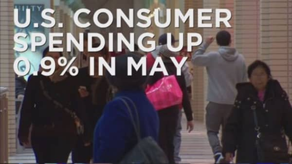 Consumer spending gaining momentum