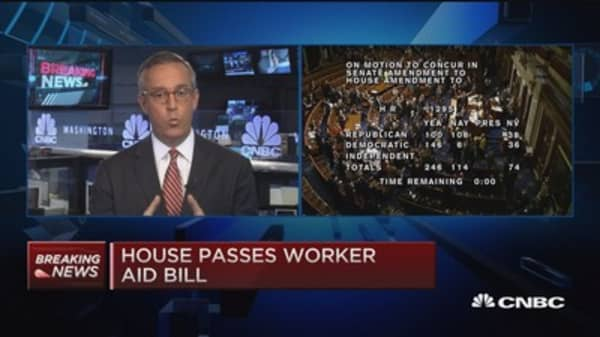 House passes worker aid bill