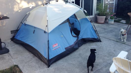 Tent listed on Airbnb
