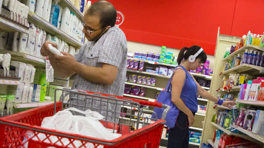 Shoppers at a Target store in Brooklyn, New York.