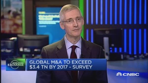 Global M&A boom to continue until 2017?