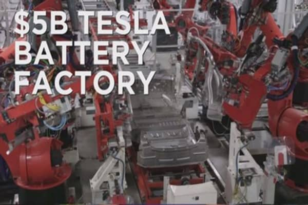 Tesla's Gigafactory to open within year