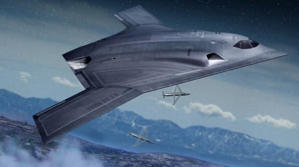 An artist's concept of Northrop Grumman's Long Range Strike Bomber.