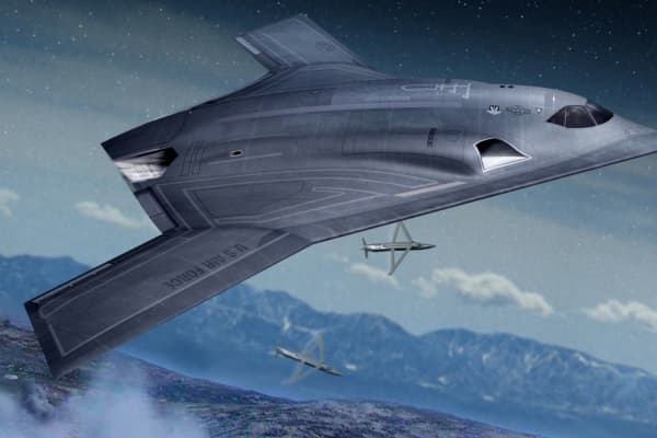 An artist's concept of Northrop Grumman's Long Range Strike Bomber.