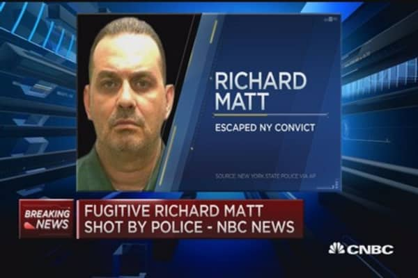 Fugitive Richard Matt killed by police: NBC News