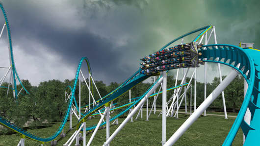 The Fury 325 roller coaster at Carowinds theme park in Charlotte, N.C.