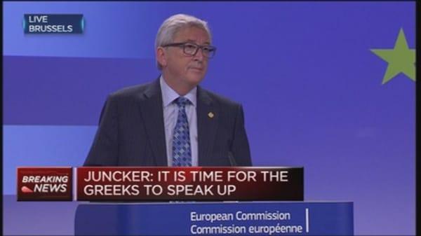 Juncker asks Greeks to vote 'yes' in vote