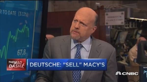 Cramer's Mad Dash: Sell Macy's, buy Tesla?