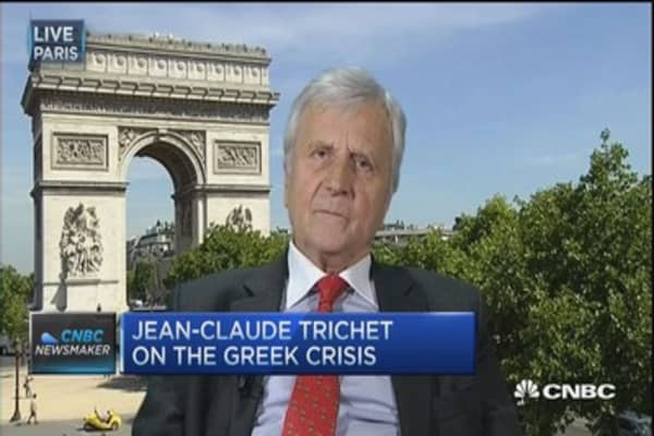 Trichet: Greek default would have consequences