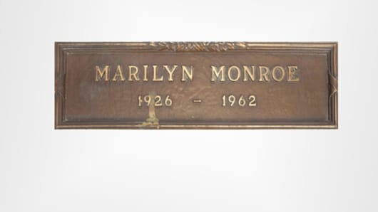 Marilyn Monroe's grave marker that sold for $212,500