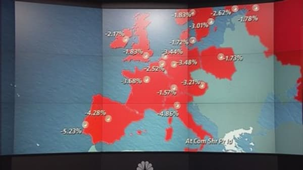European markets tumble on Greece fears