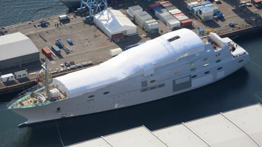 "The ""White Pearl"" megayacht is expected to launch in July 2016."