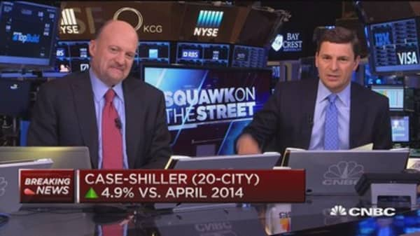 S&P Case Shiller (national) up 4.2% vs. April 2014