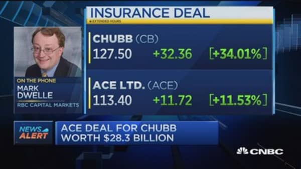 ACE buys Chubb in $28.3 billion deal