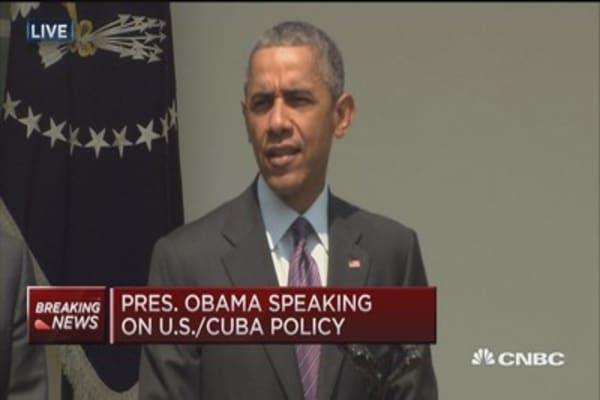 Obama: Reestablishing diplomatic relations with Cuba