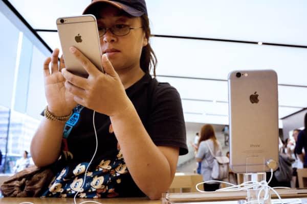 An Apple store in Hangzhou, China.
