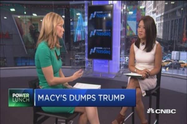 Macy's dumps Trump