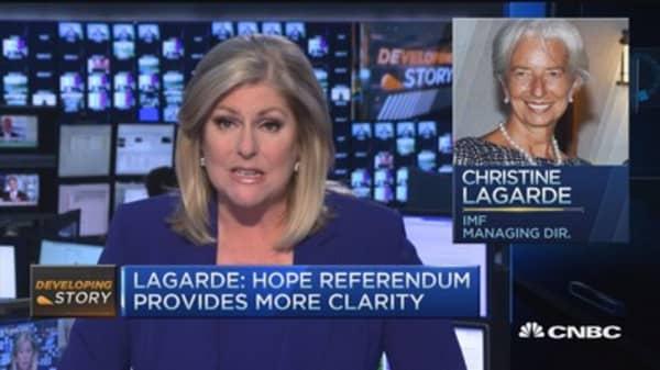 Lagarde: Hope referendum provides clarity